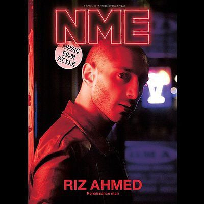 RIZ AHMED Photo Cover interview UK NME MAGAZINE April 2017 Calvin Harris