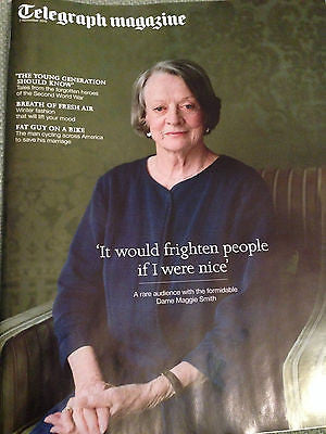 Downton Abbey MAGGIE SMITH UK TELEGRAPH PHOTO COVER MAGAZINE NOVEMBER 2015