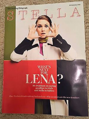 UK Stella Magazine January 2017 Lena Dunham Sofie Grabol