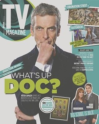Doctor Who PETER CAPALDI PHOTO COVER INTERVIEW TV  MAGAZINE AUGUST 2014