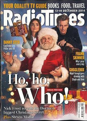 Doctor Who PETER CAPALDI PHOTO COVER RADIO TIMES MAGAZINE DECEMBER 2014 NEW