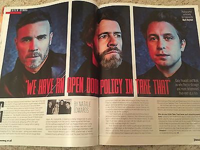 TAKE THAT PHOTO COVER FABULOUS MAGAZINE GARY BARLOW MARK OWEN MARCH 2017 JO WOOD