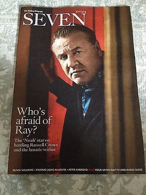 Russell Crowe RAY WINSTONE Photo Cover 2014 MAGAZINE JULIE ANDREWS MICK JAGGER