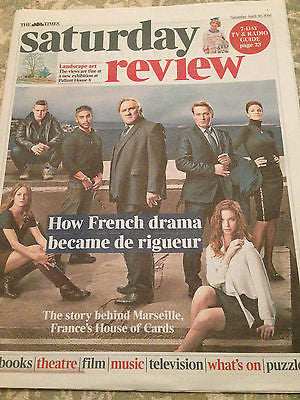TIMES SATURDAY REVIEW 04/2016 Marseille Gerard Depardieu & Benoit Magimel Cover
