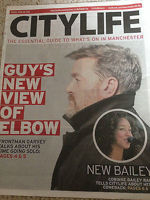 UK City Life Supplement - GUY GARVEY ELBOW Photo Cover Interview June 2016