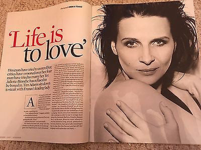 Slack Bay JULIETTE BINOCHE OBSERVER PHOTO INTERVIEW June 2017 UK Mag - Uzo Aduba