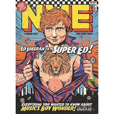 NME UK magazine March 2017 Ed Sheeran Lorde PVRIS Russell Howard