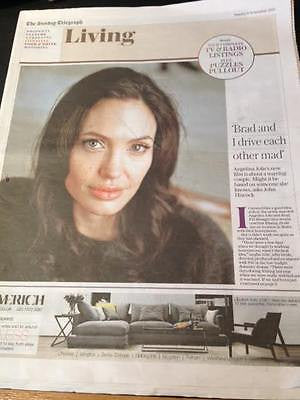ANGELINA JOLIE Photo Cover Uk TELEGRAPH Living NOVEMBER 2015 Ben Whishaw