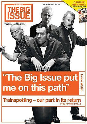TRAINSPOTTING 2 - ROBERT CARLYLE Big Issue London UK magazine January 2017