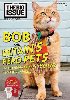 Big Issue Magazine March 2017 Street Cat Named Bob The Streetcat James Bowen