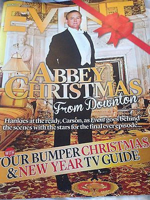 UK EVENT MAGAZINE 12/2015 DOWNTON ABBEY CHRISTMAS HUGH BONNEVILLE RAFE SPALL
