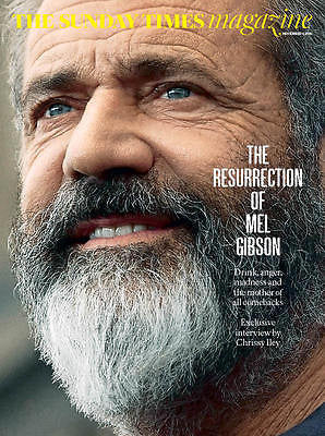 MEL GIBSON - ROBERT PLANT - EDIE SEDGWICK UK Sunday Times Magazine November 2016