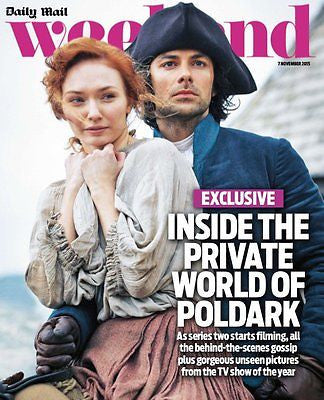 (UK) WEEKEND MAGAZINE NOVEMBER 2015 AIDAN TURNER POLDARK UNSEEN PHOTOS SERIES 2