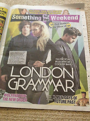 London Grammar Cover Clippings The SUN UK Promo interview Mariah Carey Sam Smith