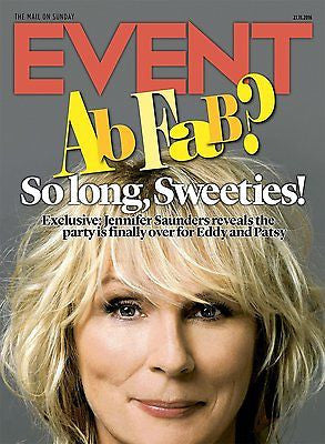 Jennifer Saunders - The Rolling Stones UK Event Magazine November 2016 NEW