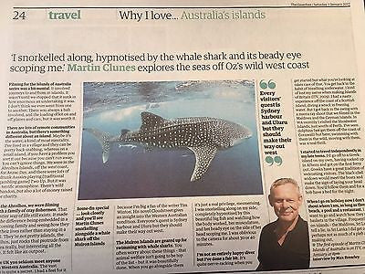 Martin Clunes Photo Interview UK Guardian Travel Supplement 7 Jan 2017