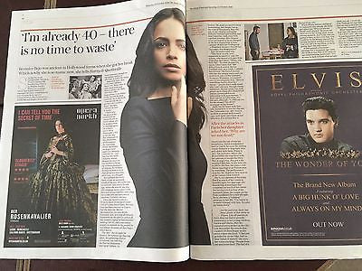 STING - BERENICE BEJO - PHOTO COVER Interview Telegraph Review UK October 2016