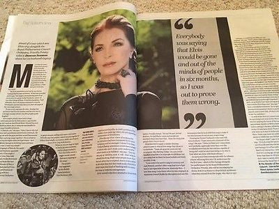Elvis PRISCILLA PRESLEY PHOTO INTERVIEW UK YORKSHIRE POST MAGAZINE NOVEMBER 2016
