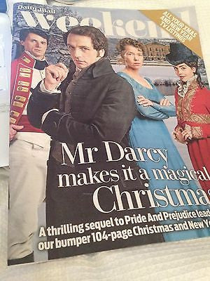 BENEDICT CUMBERBATCH interview MATTHEW RHYS MR DARCY UK 1 DAY ISSUE 2013 NEW