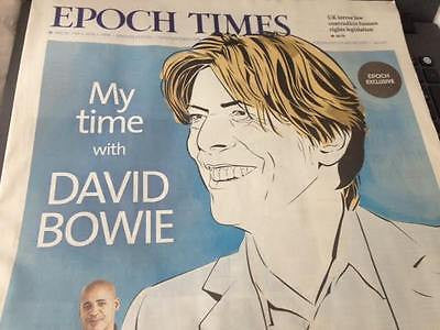 DAVID BOWIE Photo Cover Special UK LONDON Supplement JANUARY 20 2016 NEW