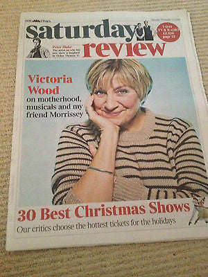 Times Saturday Review Nov 23 2013 VICTORIA WOOD David Tennant Dr Who Peter Blake