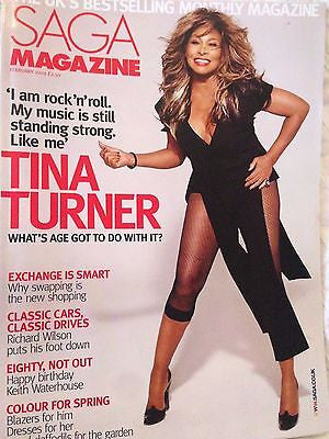 SAGA magazine February 2009 TINA TURNER PHOTO COVER INTERVIEW - DAVID SUCHET