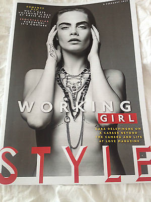 Love Cara Delevingne PHOTO COVER STYLE MAGAZINE FEB 2015 SHARLEEN SPITERI TEXAS