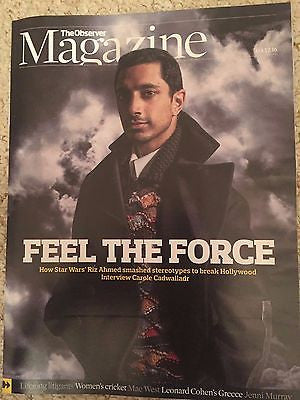 (UK) Observer Magazine 4th Dec 2016 Riz Ahmed - Star Wars: Rogue One - Mae West