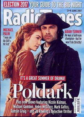 Poldark AIDAN TURNER Photo Cover Interview Radio Times UK magazine 3 June 2017