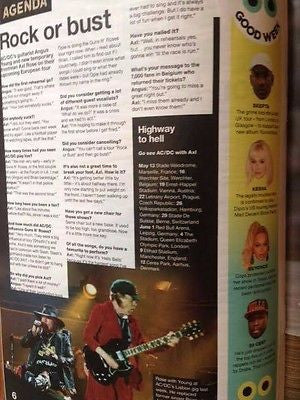 ALEX TURNER Angus Young Anton Yelchin James Blake UK NME MAGAZINE May 2016