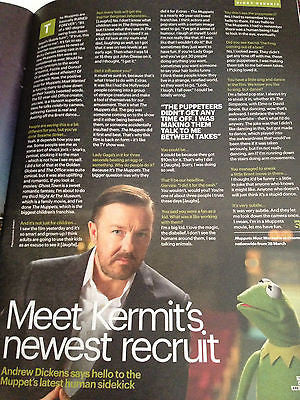 UK FASHION MAGAZINE 2014 JACK O'CONNELL RICKY WILSON RICKY GERVAIS