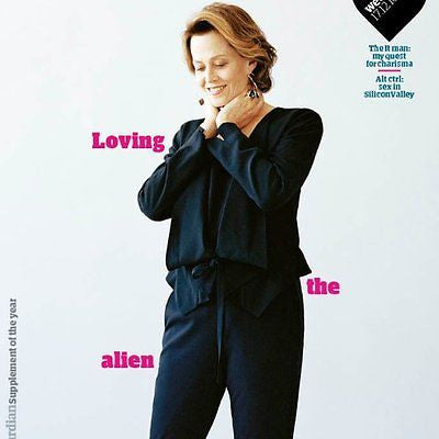 Alien SIGOURNEY WEAVER PHOTO COVER INTERVIEW UK GUARDIAN MAGAZINE DECEMBER 2016