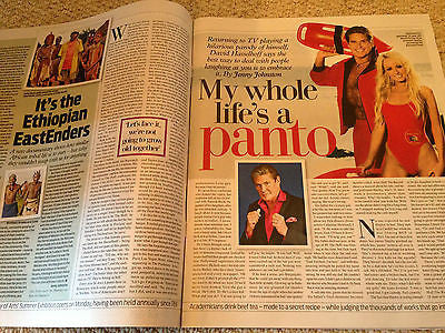 DAVID HASSELHOFF PHOTO INTERVIEW JUNE 2015 MAGAZINE TREVOR EVE SHARON SMALL