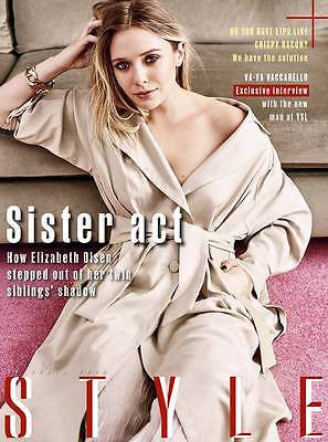 Captain America ELIZABETH OLSEN PHOTO INTERVIEW UK STYLE MAGAZINE APRIL 2016