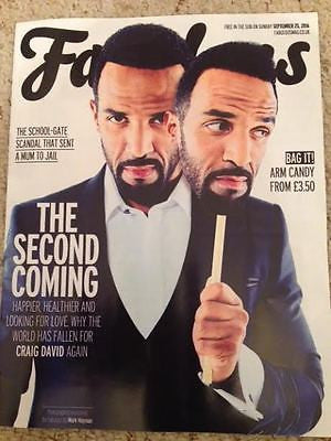 CRAIG DAVID PHOTO COVER INTERVIEW UK FABULOUS MAGAZINE SEPTEMBER 2016