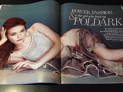 Poldark ELEANOR TOMLINSON UK PHOTO INTERVIEW MARCH 2015 JIM PARSONS AIDAN TURNER