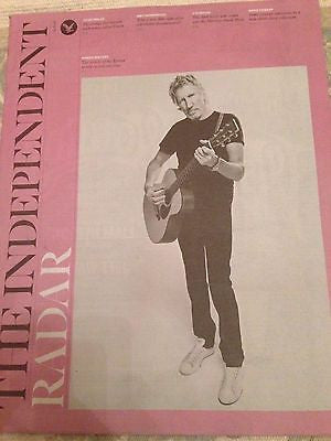 Pink Floyd ROGER WATERS PHOTO INTERVIEW INDEPENDENT MAGAZINE NOVEMBER 2015
