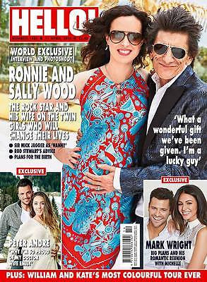 (UK) HELLO Magazine April 2016 RONNIE & SALLY WOOD Rolling Stones Photo Cover