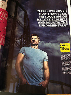 NIKOLAJ COSTER-WALDAU PHOTO SHOOT HUNK MEN'S HEALTH FITNESS MAGAZINE NEW 2015