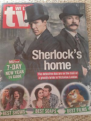 (UK) WE LOVE TV MAGAZINE DECEMBER 2015 BENEDICT CUMBERBATCH SHERLOCK PHOTO COVER