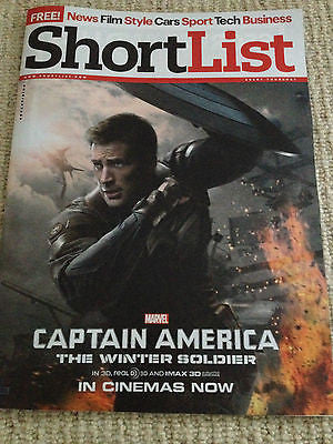 CHRIS EVANS - CAPTAIN AMERICA THE WINTER SOLDIER NEW SHORTLIST UK COVER MAGAZINE