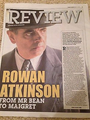 ROWAN ATKINSON Maigret PHOTO COVER EXPRESS REVIEW MARCH 2016