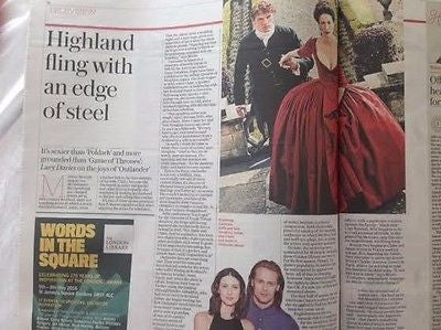 TELEGRAPH REVIEW APRIL 2016 ROLLING STONES SAM HEUGHAN OUTLANDER CAITRIONA BALFE