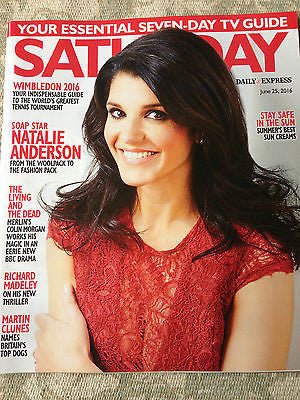 SATURDAY Magazine 2016 NATALIE ANDERSON Colin Morgan MARTIN CLUNES Eric Richard