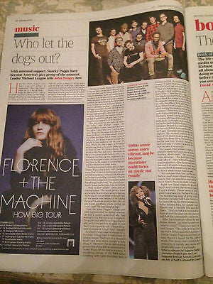 TIMES REVIEW JUNE 20 2015 FLORENCE AND THE MACHINE PHOTO INTERVIEW SNARKY PUPPY