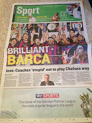 CHAMPIONS LEAGUE FINAL 2015 FC BARCELONA VS JUVENTUS SUNDAY TIMES 7 JUNE 2015