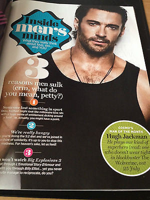 HUGH JACKMAN HOT PHOTO MAGAZINE 2013 LAWSON NAKED CENTREFOLD