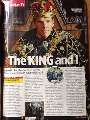 BENEDICT CUMBERBATCH - HOLLOW CROWN TV & Satellite UK magazine May 2016