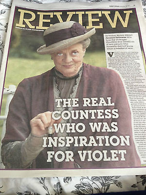 EXPRESS Review Sept 28 2014 MAGGIE SMITH PHOTO COVER Downton Abbey Marti Pellow