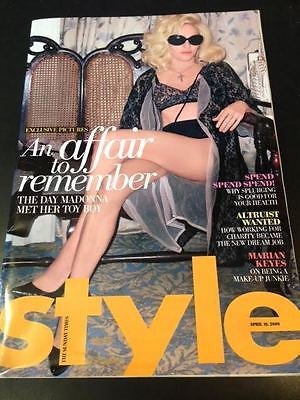 UK STYLE magazine - April 2009 Madonna Photo Cover Shoot Jesus Luz Male Model